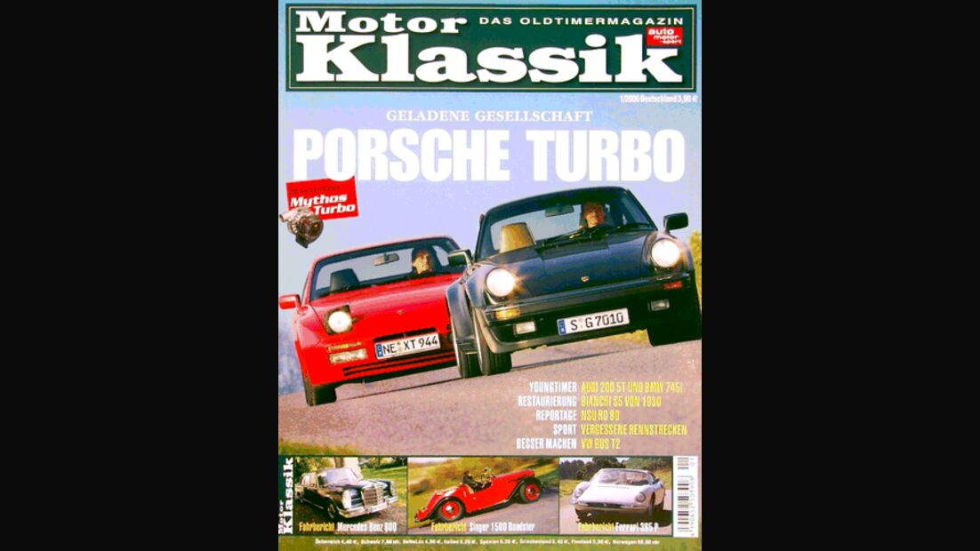 Titel Motor Klassik, Heft 01/2006