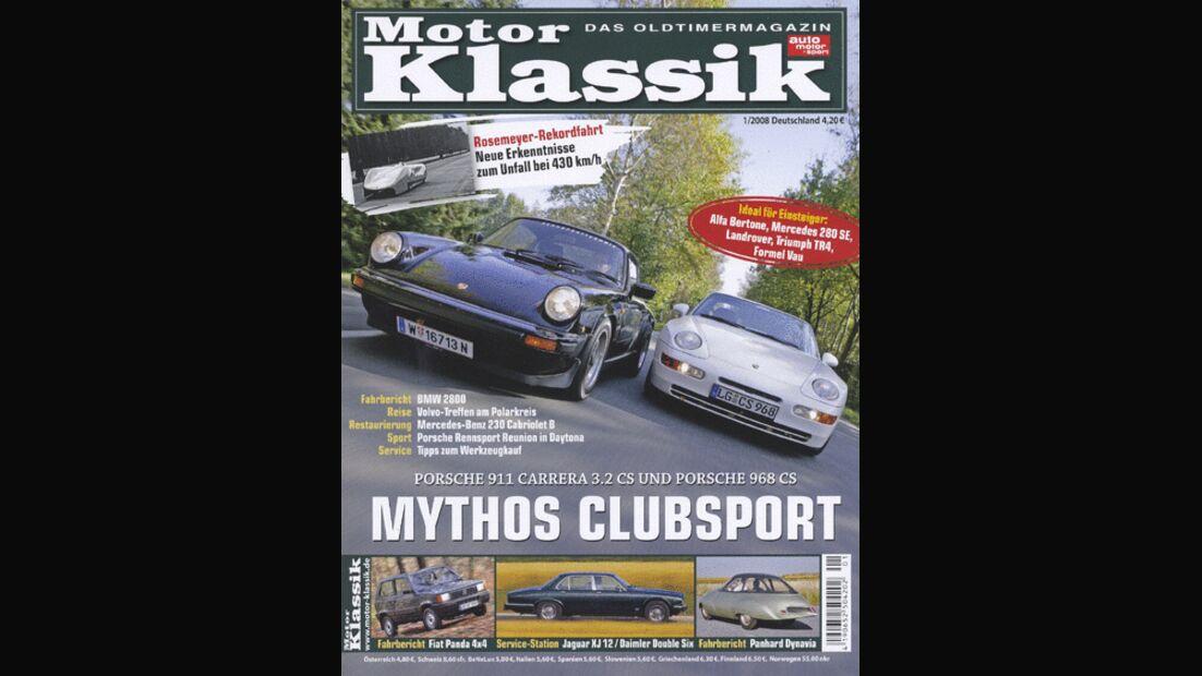 Titel Motor Klassik, Heft 01/2008