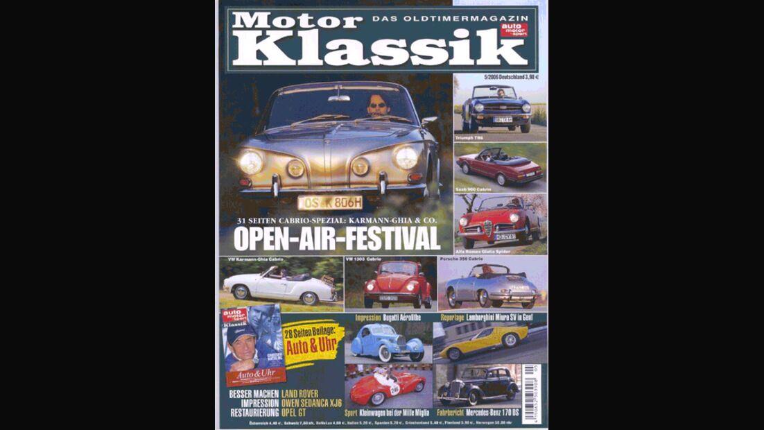 Titel Motor Klassik, Heft 05/2006