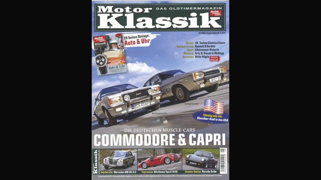 Titel Motor Klassik, Heft 05/2008