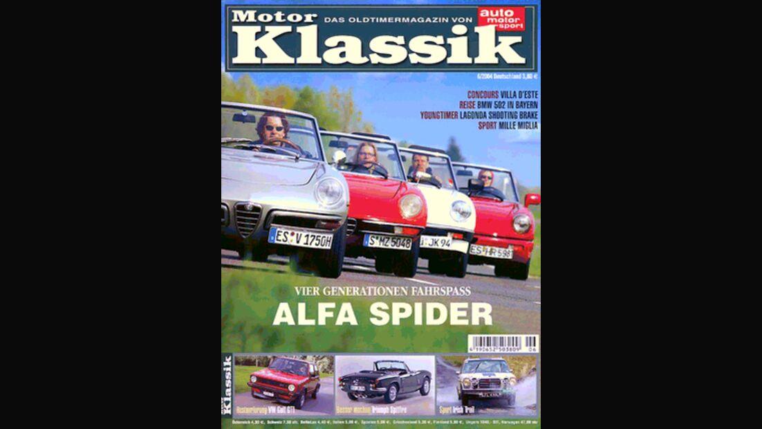 Titel Motor Klassik, Heft 06/2004