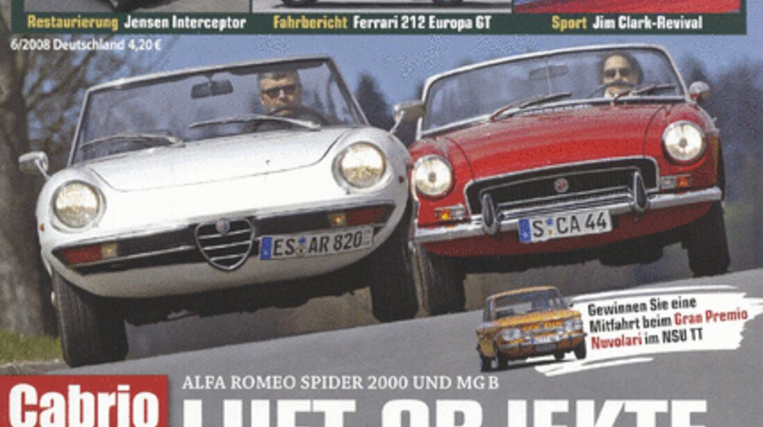 Titel Motor Klassik, Heft 06/2008