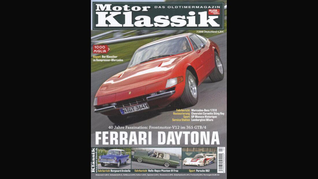 Titel Motor Klassik, Heft 07/2008