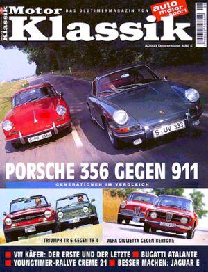 Titel Motor Klassik, Heft 08/2003