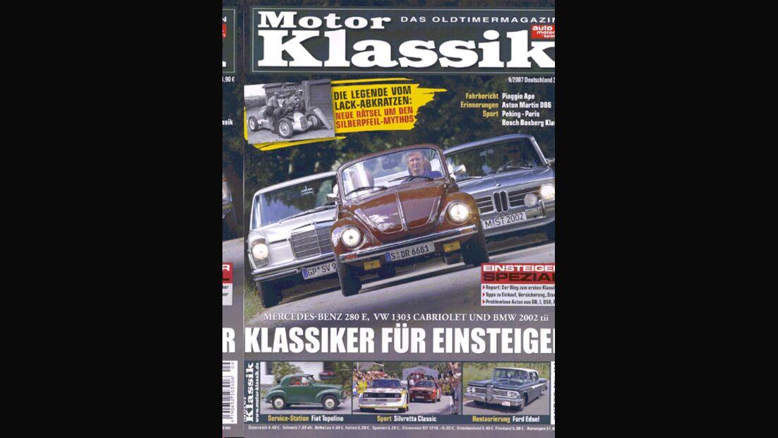 Titel Motor Klassik, Heft 09/2007