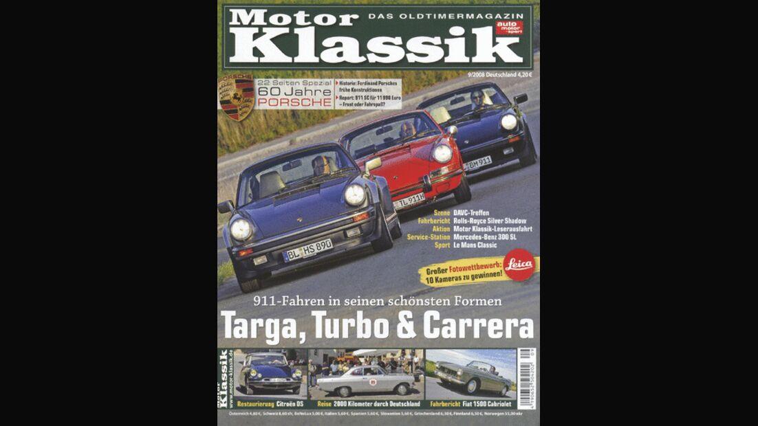 Titel Motor Klassik, Heft 09/2008