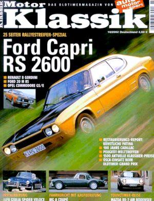 Titel Motor Klassik, Heft 10/2002