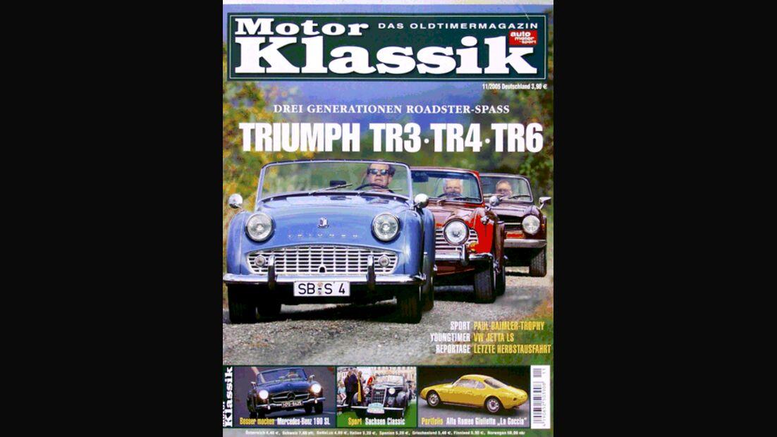 Titel Motor Klassik, Heft 11/2005
