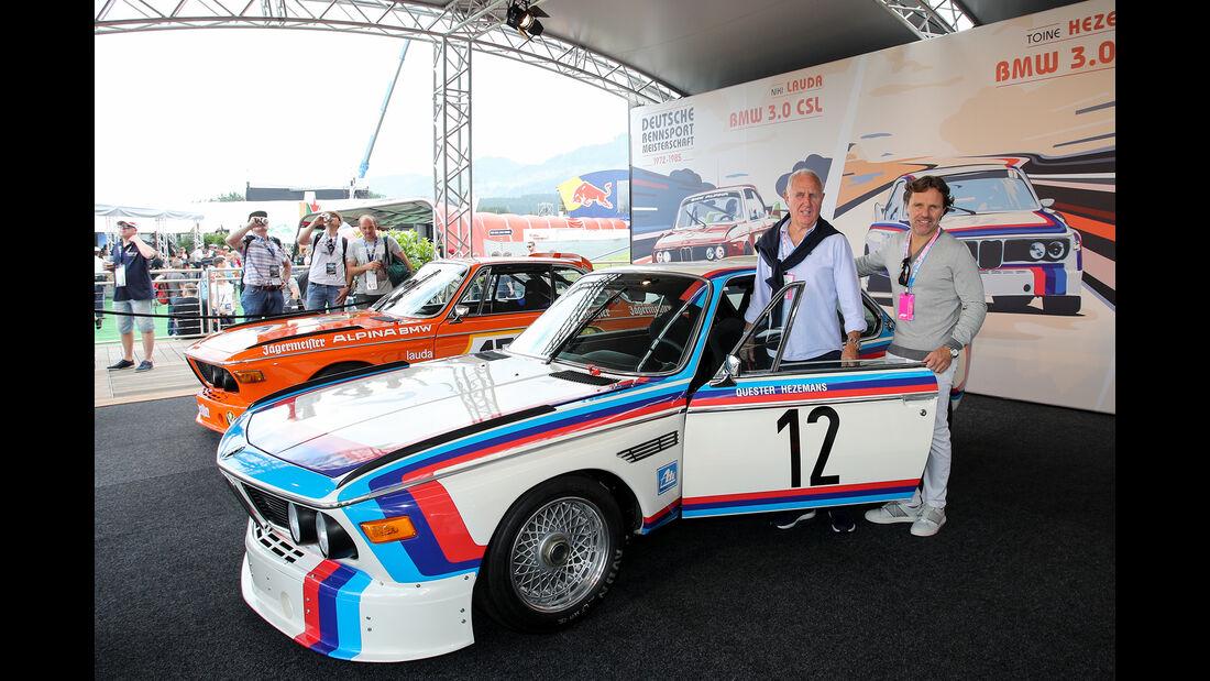 Toine Hezemans - BMW 3.0 CSL - Legenden-Parade - GP Österreich 2018