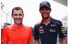Tom Kristensen & Mark Webber - Formel 1 - GP Indien - Delhi - 24. Oktober 2013