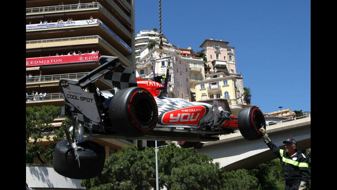 Tonio Liuzzi Crash GP Monaco 2011