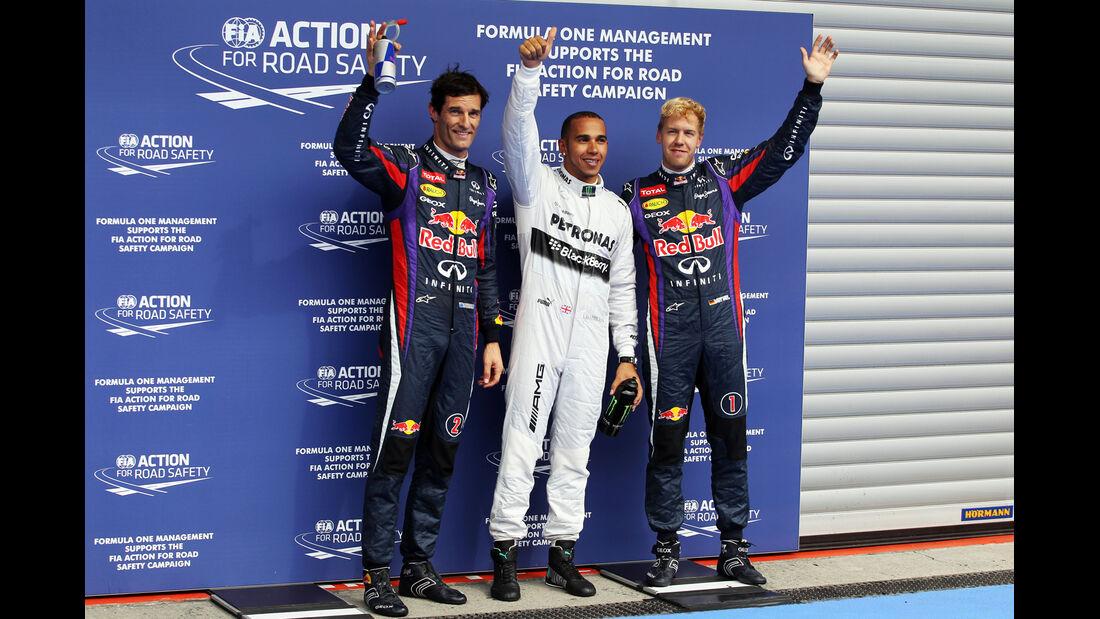 Top 3 - Formel 1 - GP Belgien - Spa-Francorchamps - 24. August
