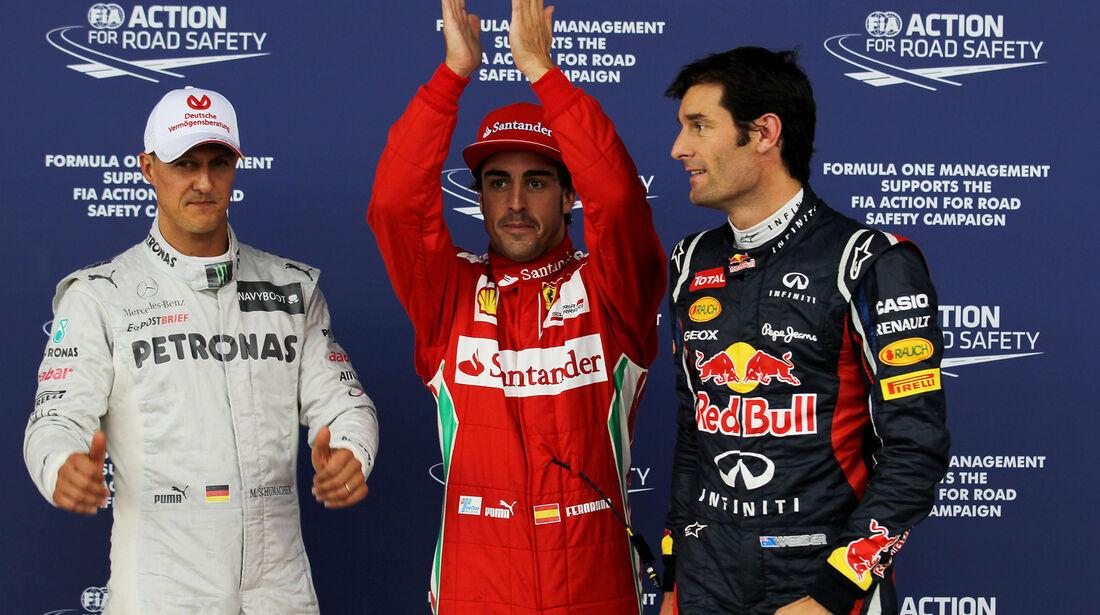 Top 3 - Formel 1 - GP England - Silverstone - 7. Juli 2012