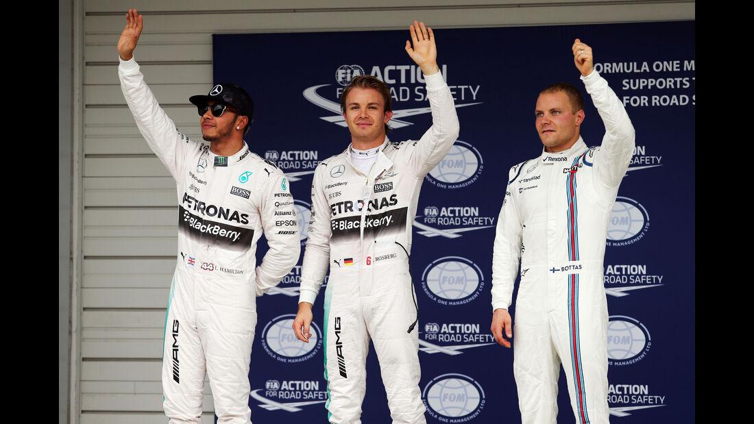 Top 3 - Formel 1 - GP Japan - Suzuka - 26. September 2015
