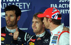 Top 3 - Formel 1 - GP Japan - Suzuka - 6. Oktober 2012