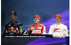 Top 3 - Formel 1 - GP Singapur - 20. September 2015