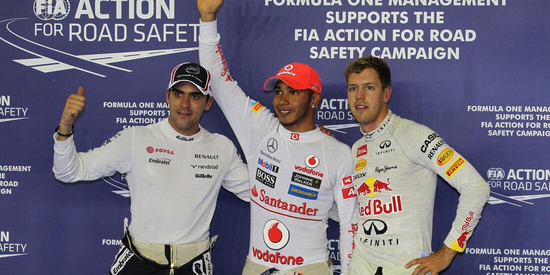 Top 3 - Formel 1 - GP Singapur - 22. September 2012