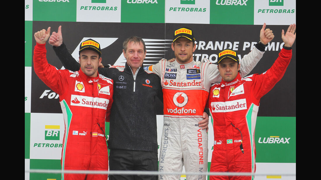 Top 3 GP Brasilien 2012