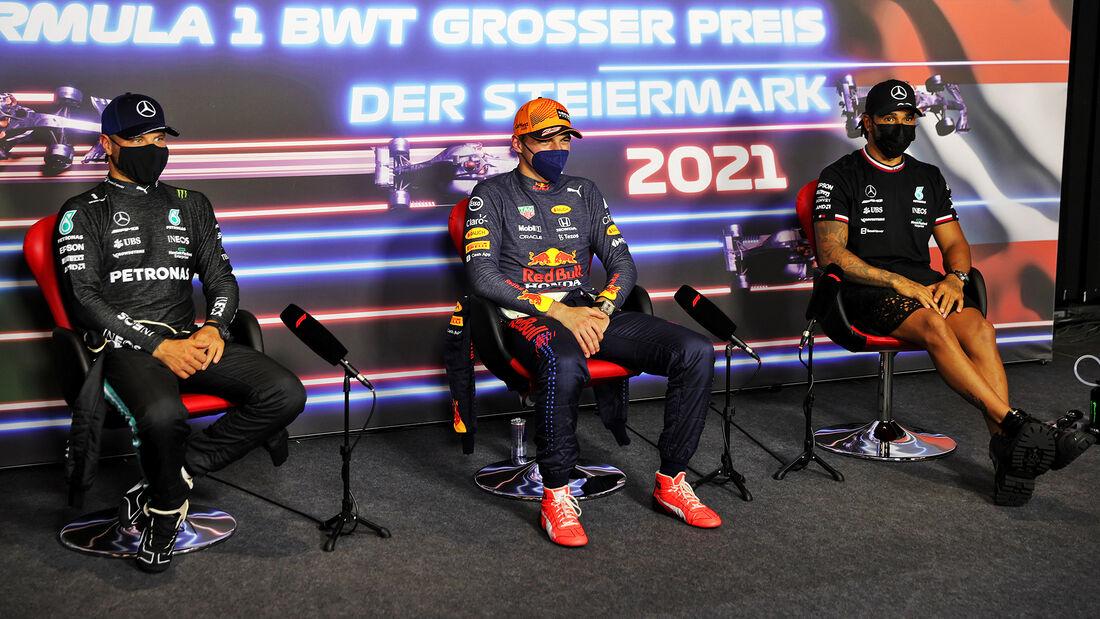 Top-3-Pressekonferenz - Formel 1 - GP Steiermark - 26. Juni 2021