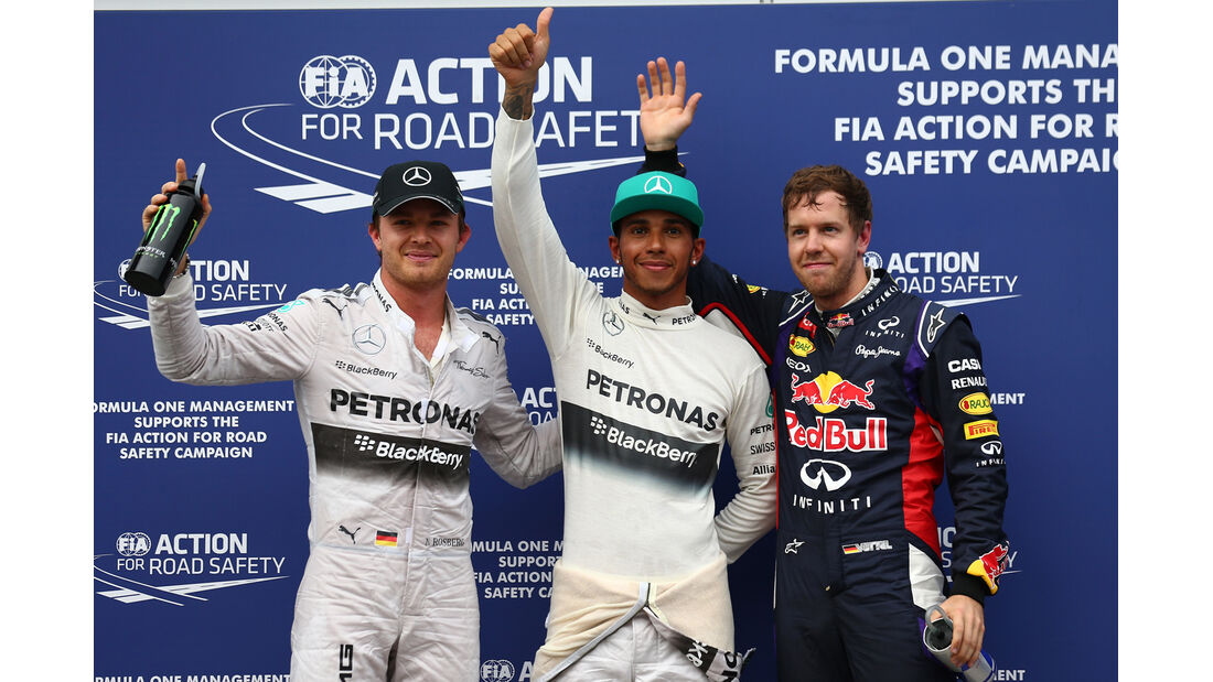 Top 3 - Quali - Formel 1 - GP Malaysia - Sepang - 29. März 2014