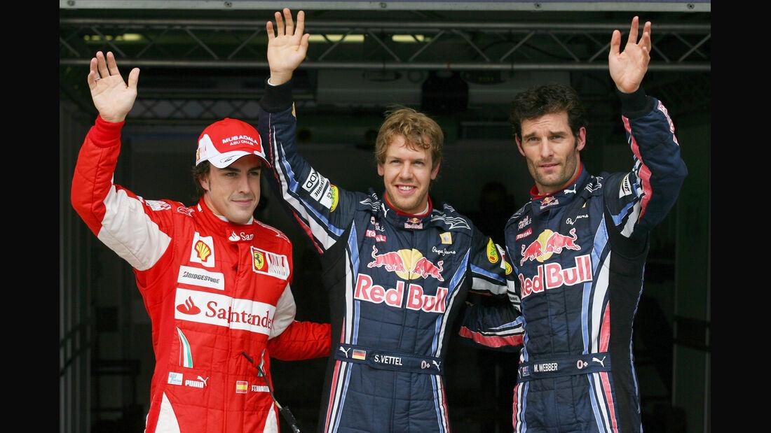 Top 3 Qualifying - Alonso, Vettel & Webber - GP Ungarn 2010