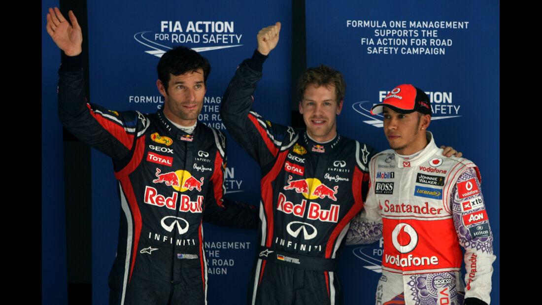 Top 3-Qualifying - GP Indien - Delhi - 29.10.2011