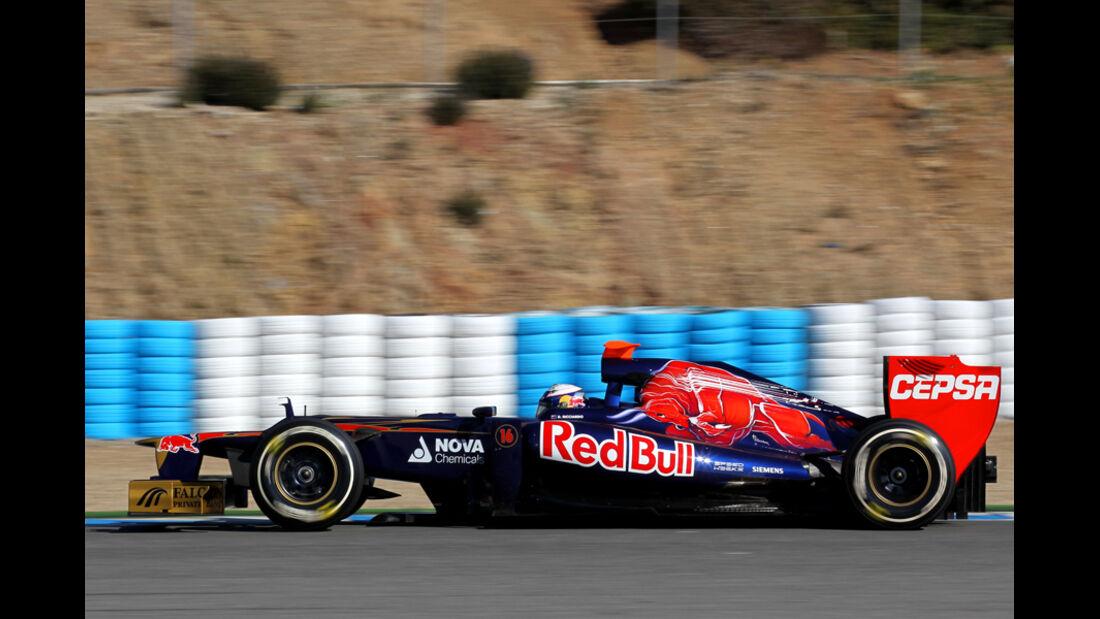 Toro Rosso STR7 Formel 1 Jerez 2012