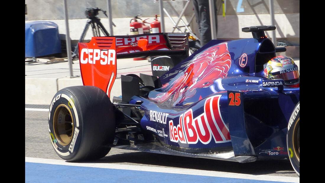 Toro Rosso - Technik - Bahrain Test 2 - 2014