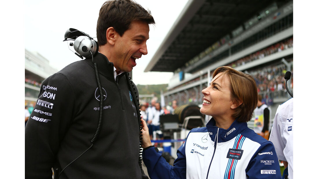 Toto Wolff - Claire Williams - GP Russland 2015 - Sochi - Rennen