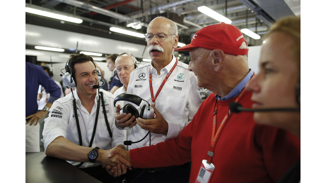 Toto Wolff, Dieter Zetsche & Niki Lauda - Mercedes - GP Abu Dhabi - 25. November 2017