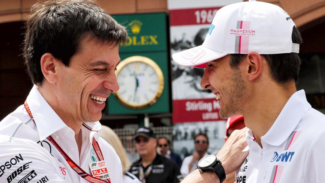 Toto Wolff & Esteban Ocon - GP Monaco 2018