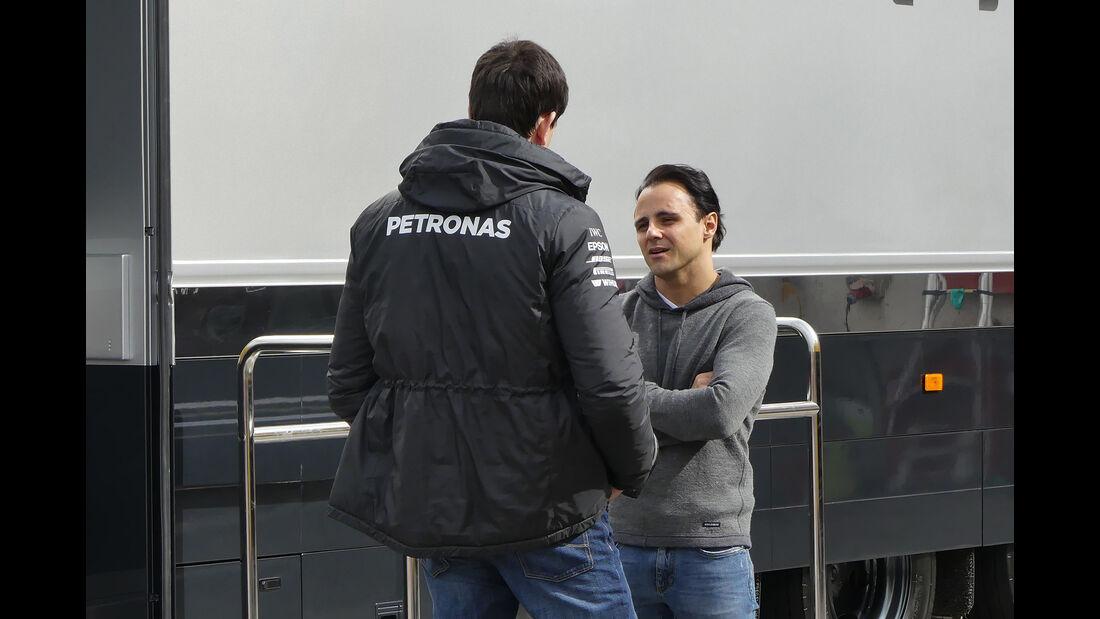 Toto Wolff & Felipe Massa - Formel 1-Test - Barcelona - 28. Februar 2017