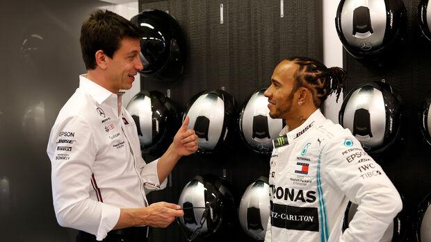 Toto Wolff - Lewis Hamilton -  Formel 1 - 2019