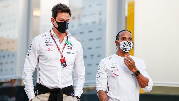 Toto Wolff & Lewis Hamilton - GP Emilia Romagna - Imola - 2020
