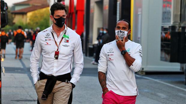 Toto Wolff - Lewis Hamilton - Mercedes - GP Emilia-Romagna 2020