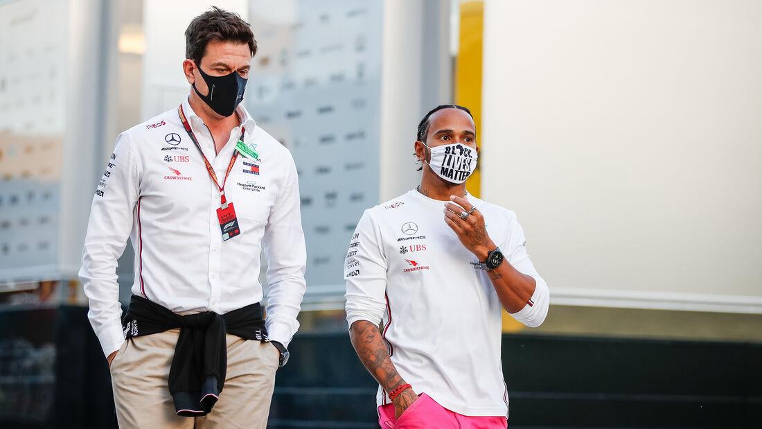 Toto Wolff - Lewis Hamilton - Mercedes - GP Emilia-Romagna 2020 - Imola