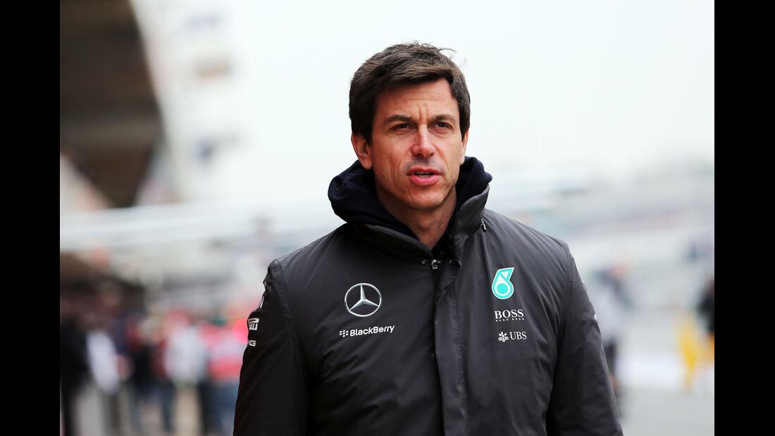 Toto Wolff - Mercedes - Formel 1-Test - Barcelona - 21. Februar 2015