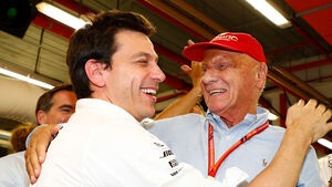 Toto Wolff & Niki Lauda
