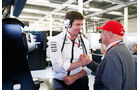 Toto Wolff - Niki Lauda - GP England - Silverstone - Qualifying - Samstag - 4.7.2015