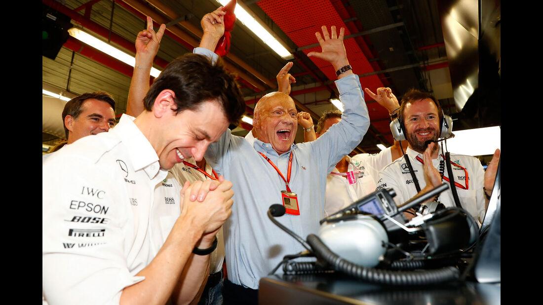 Toto Wolff - Niki Lauda - Mercedes -  Formel 1