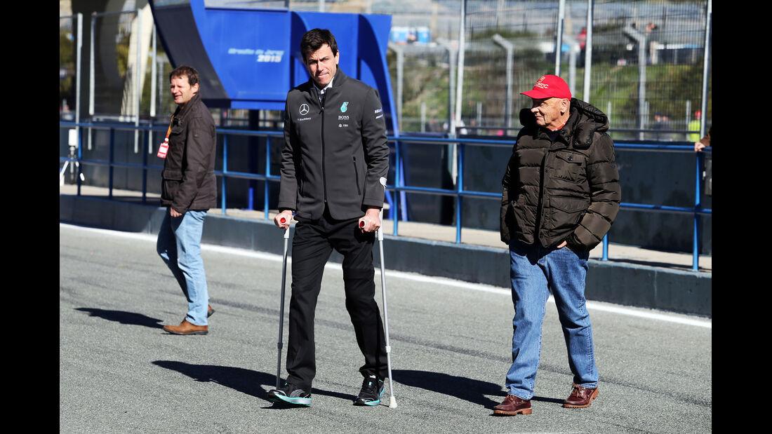 Toto Wolff & Niki Lauda - Mercedes - Formel 1-Test Jerez - 1. Febraur 2015