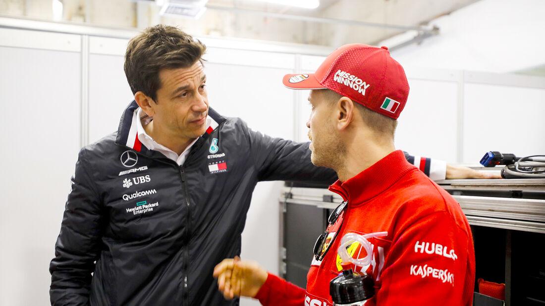 Toto Wolff & Sebastian Vettel - F1 - 2019