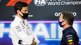 Toto Wolff und Christian Horner - GP Bahrain 2021