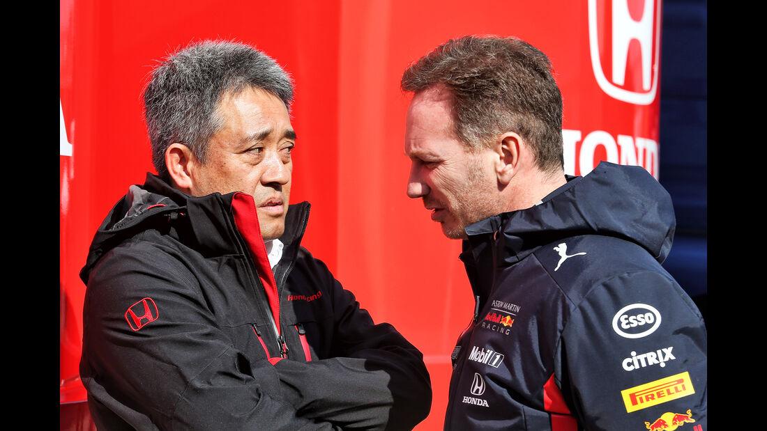 Toyoharu Tanabe (Honda) & Christian Horner (Red Bull) - Barcelona - F1-Test - 21. Februar 2019
