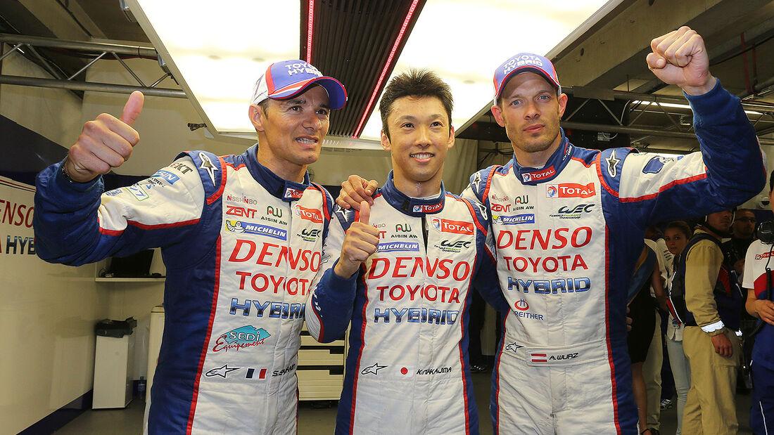 Toyota, 24h-Rennen, Le Mans 2014, Qualifikation 3, Wurz, Sarrazin, Nakajima