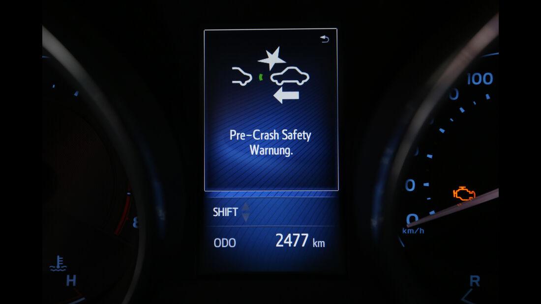 Toyota Auris 1.2T, Assistenzsystem