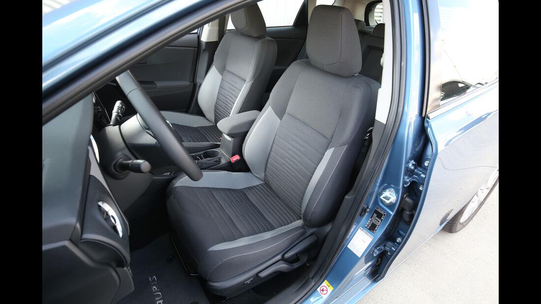 Toyota Auris 1.2T, Fahrersitz