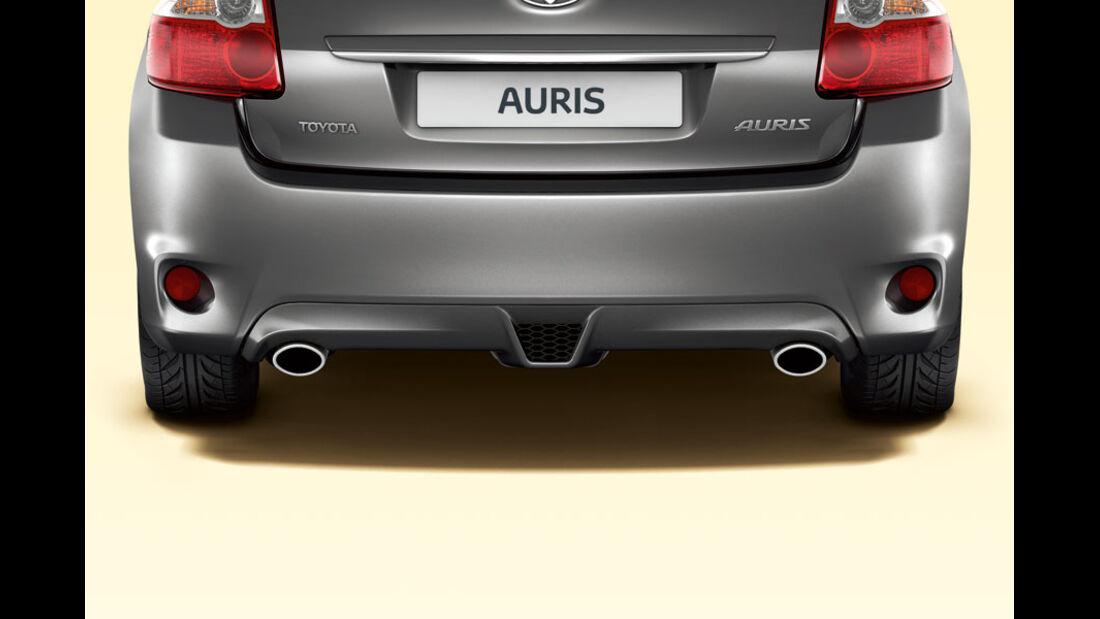 Toyota Auris, Doppelrohr-Auspuff