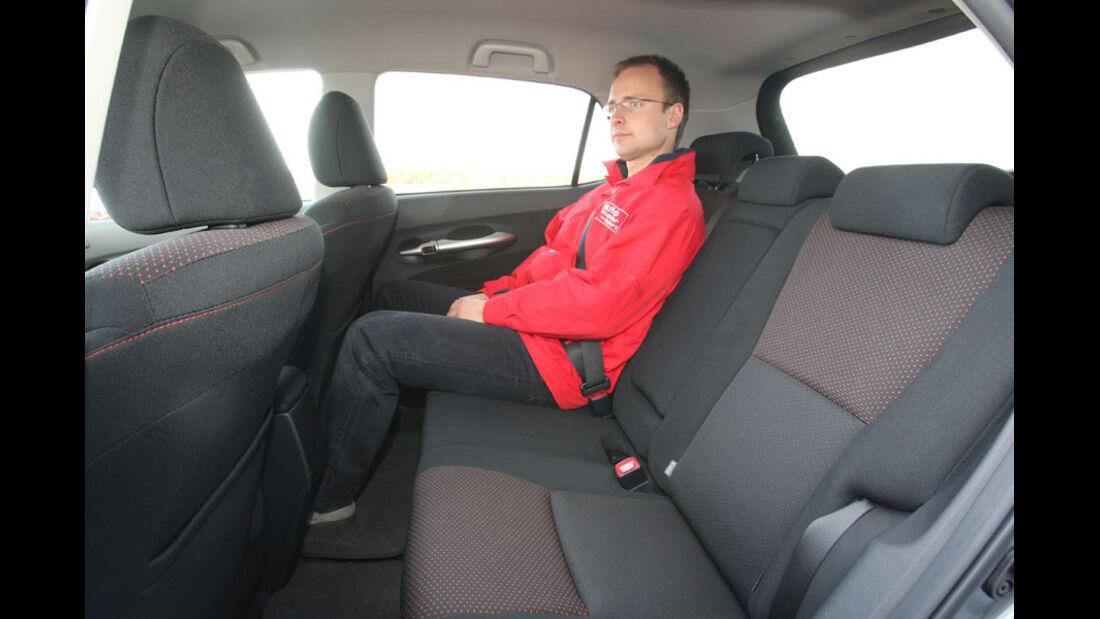 Toyota Auris, Fond, Rückbank