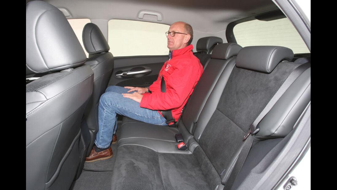 Toyota Auris Hybrid, Fond, Rückbank